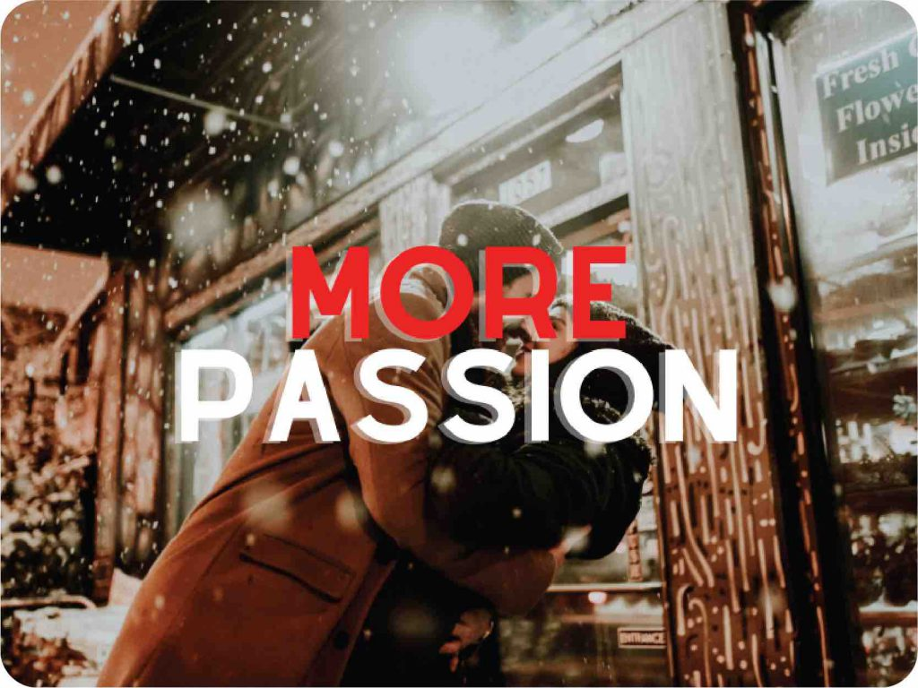 I want more passion